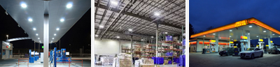 LED Warehouse and Petrol Station Lights